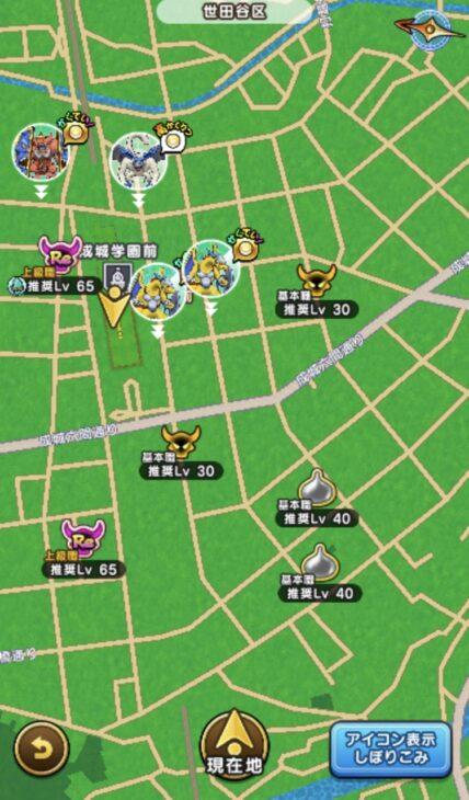 成城学園前地図
